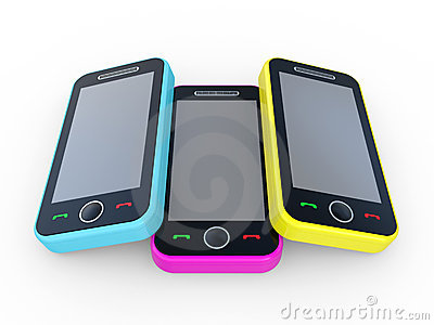 Multi-coloured 3D mobile phones