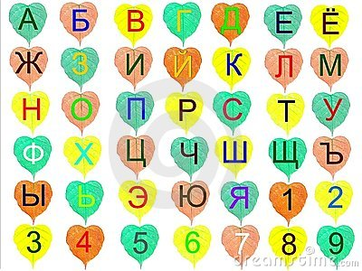The multi-coloured alphabet