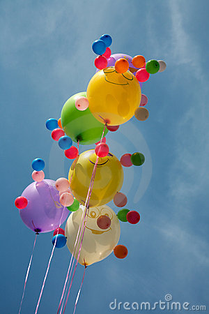 Multi-coloured balloons