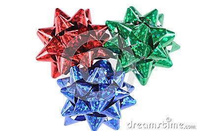 Multi-coloured bows