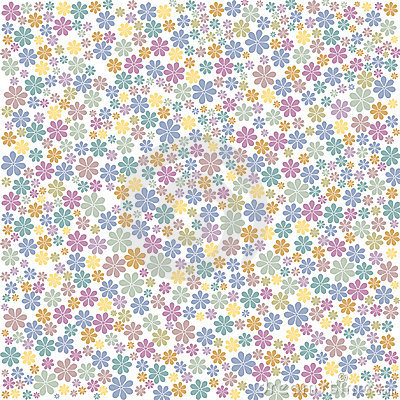 Multi Coloured Floral Background Royalty Free Stock