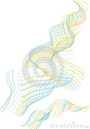 Multi-coloured lines