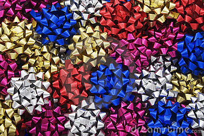 Multi-coloured Metallic Gift Bows