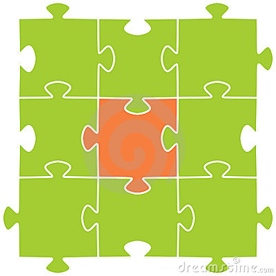Multi-coloured Puzzles On A White Background Stock Image - Image: 13210581