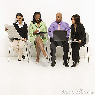 Free Multi-ethnic Business Group Stock Image - 2052001