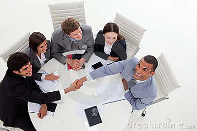 Multi-ethnic Business people shaking hands