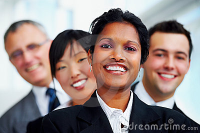 Multi-ethnic business portrait
