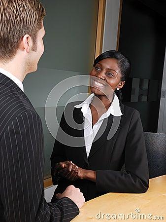 Multi-ethnic business team discussion