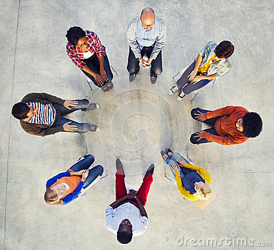 Free Multi-Ethnic Group Of People Sitting In Circle Stock Photo - 41201270