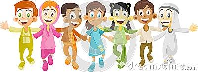 Multi ethnic kids