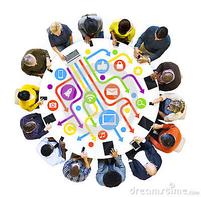 Free Multi-Ethnical People Using Digital Devices Stock Photo - 39120490