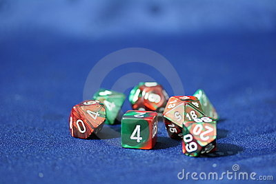 Multi-faced Dice Royalty Free Stock Images - Image: 6399549