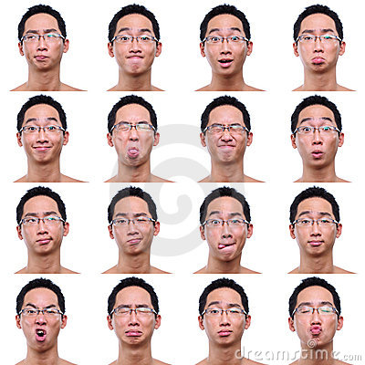 Free Multi Facial Expressions Of Asian Male Stock Photo - 7085480