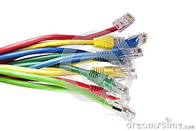 Multi farbige Netzwerkseilzüge