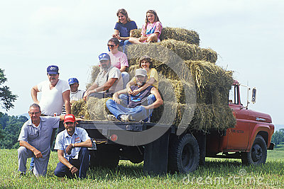 Multi generational farm family Editorial Stock Image