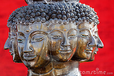 Multi headed buddha