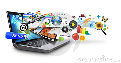 Multi Laptop van Internet van Media met Voorwerpen