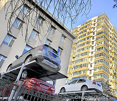 Multi-level China car parking system