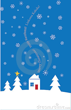 Multi-Lingual Textual holiday card