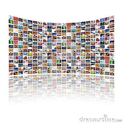 Multi media display