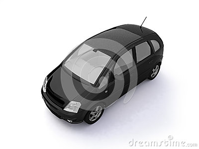 Multi-purpose black car top view