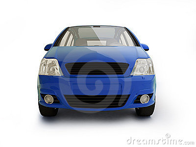 Multi-purpose blue vehicle front view