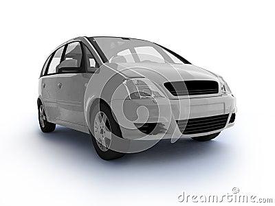 Multi-purpose white car