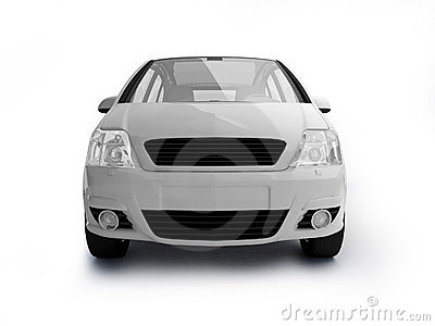 Multi-purpose white vehicle front view