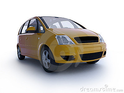 Multi-purpose yellow car