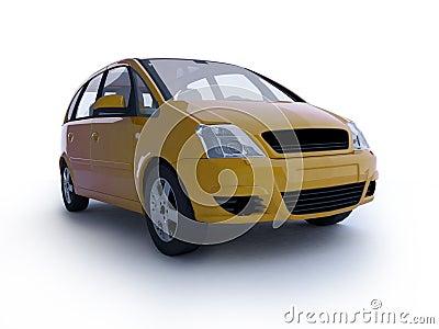 Multi-purpose yellow car