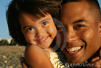 Multi-racial Father & Daughter