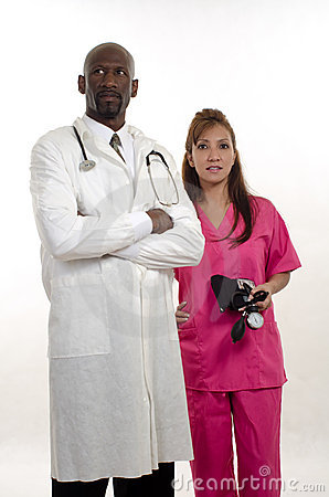 Multi racial healthcare workers team nurse doctor