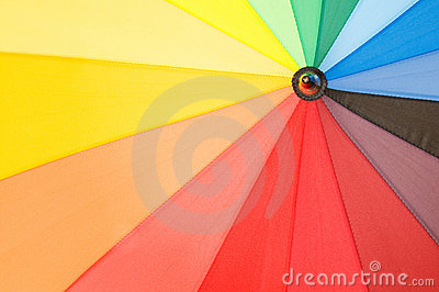 Multi sector colourful umbrella