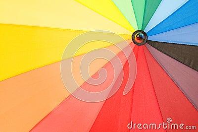 Multi sector colourful umbrella