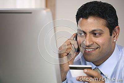 Multi-tasking Businessman