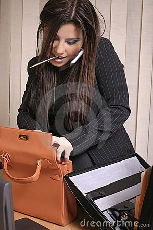 Free Multi Tasking - Busy Businesswoman Royalty Free Stock Photography - 229697