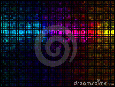 Multicolor abstract disco background