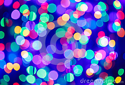 Multicolor bokeh circle background