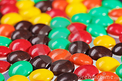 Multicolor bonbon sweets background, closeup