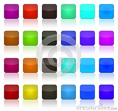 Multicolor button squares