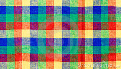 Multicolor checked tablecloth