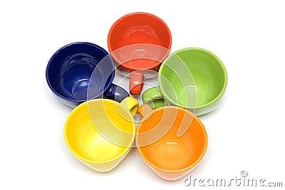 Multicolor cups