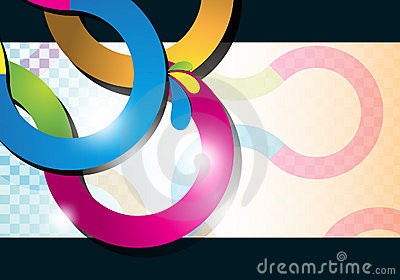 Multicolor curve lines background
