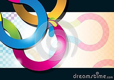 Multicolor curve lines background