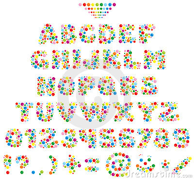 Multicolor font for children