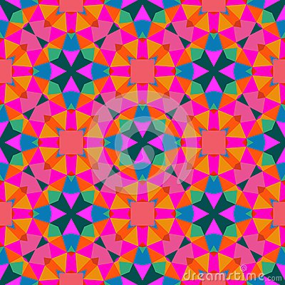 Multicolor geometric pattern in bright color royalty free for Kids room wallpaper texture