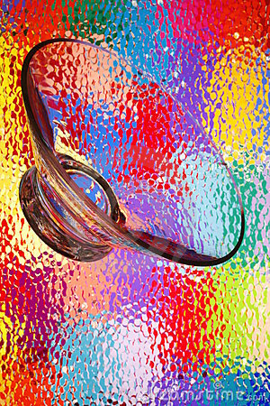 Multicolor Glass Abstract