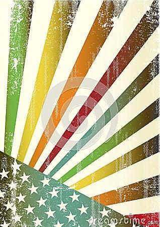 Multicolor grunge american flag