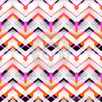 Free Multicolor Hand Drawn Pattern Zigzag Royalty Free Stock Photo - 48478755