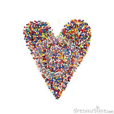Multicolor Heart Shape